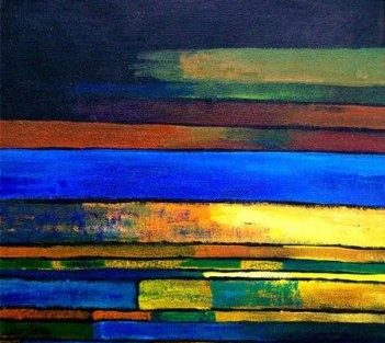 abstract color lines artist suresh kenfortes