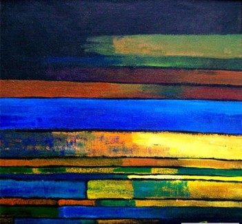 abstract color lines artist suresh kenfortes