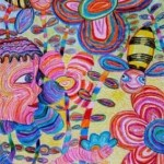 Kenfortes_Boy in garden Crayons