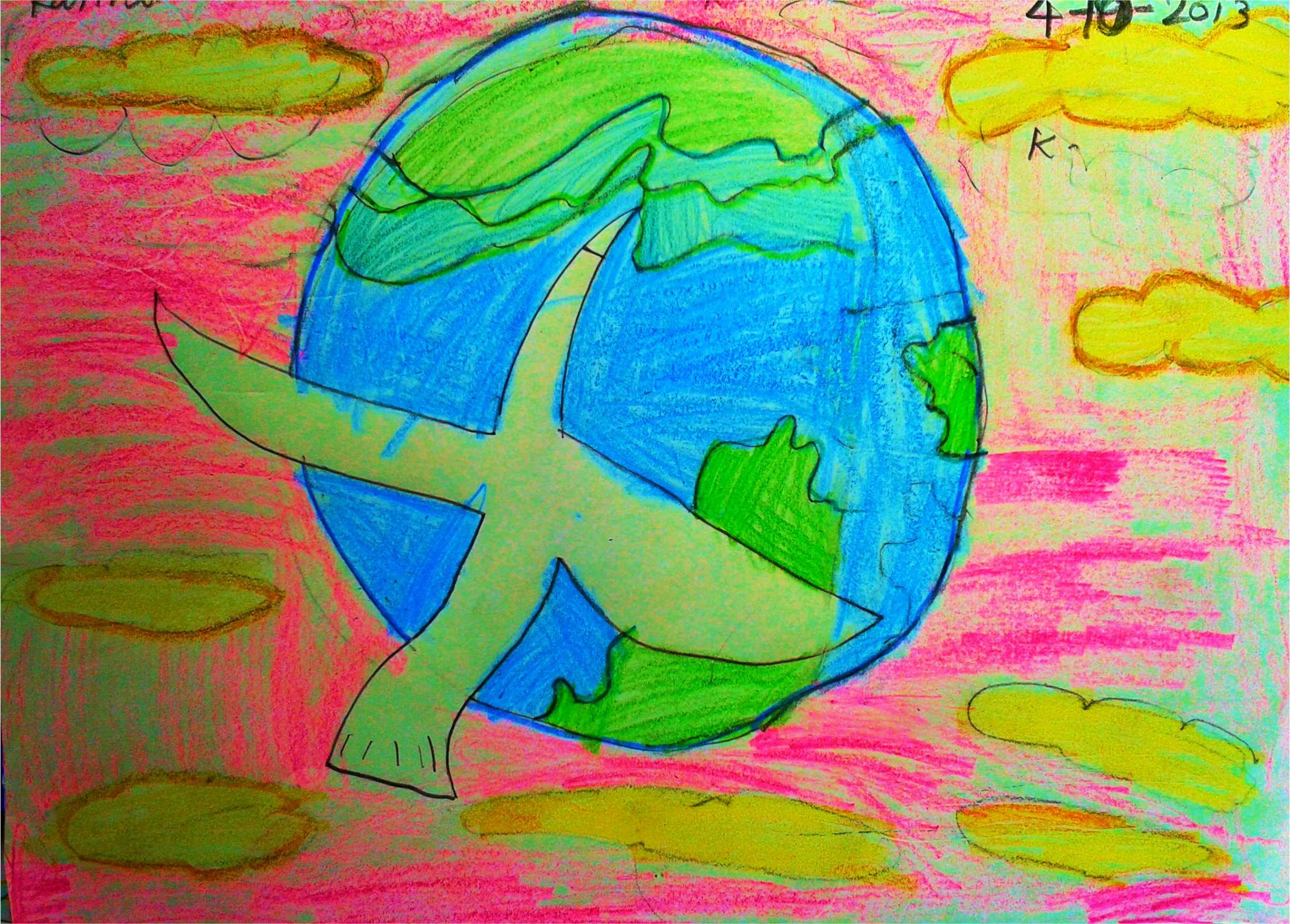 karthik- fine crayon work kenfortes fine art school bangalore