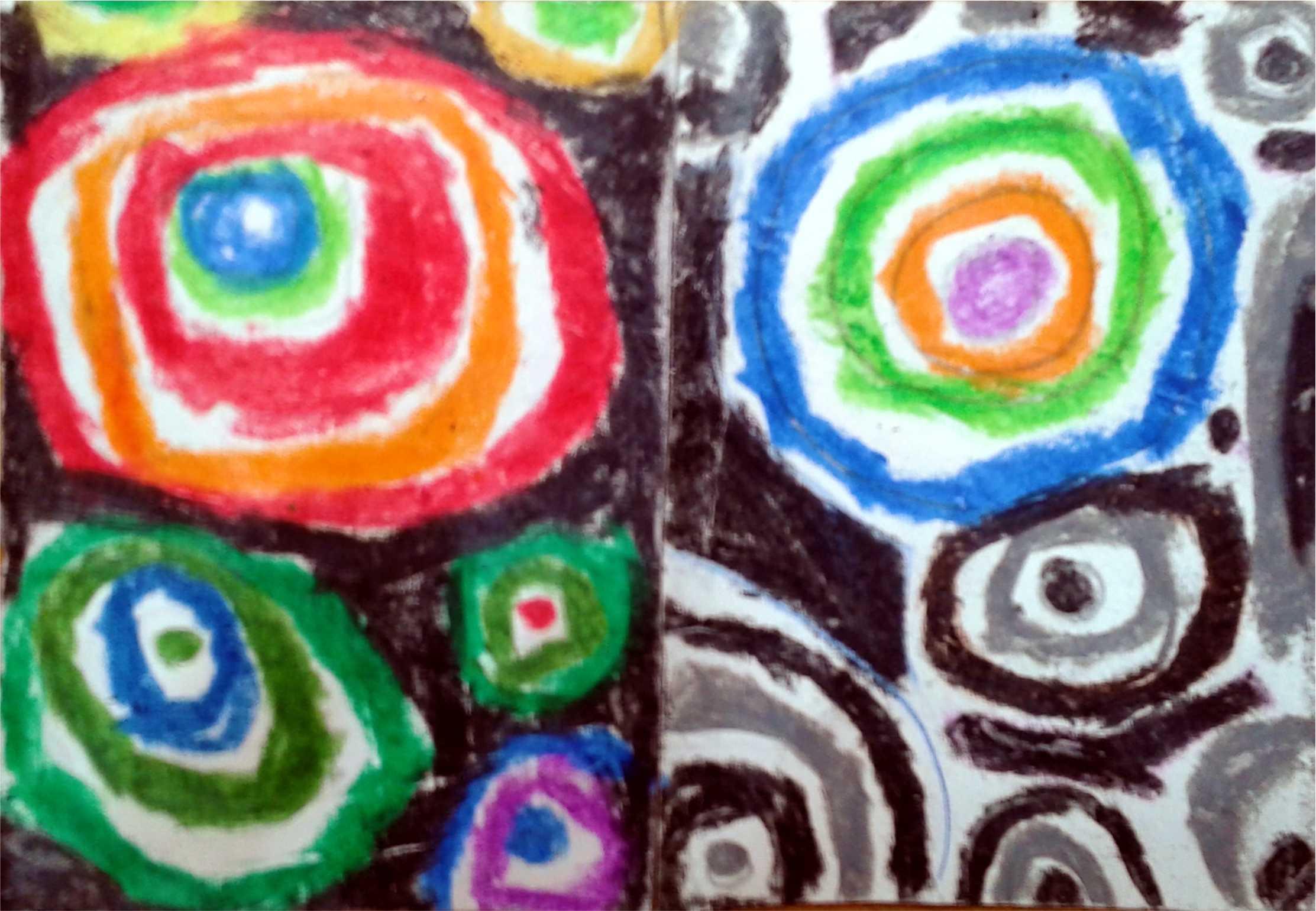 crayon art circles by SANJAY