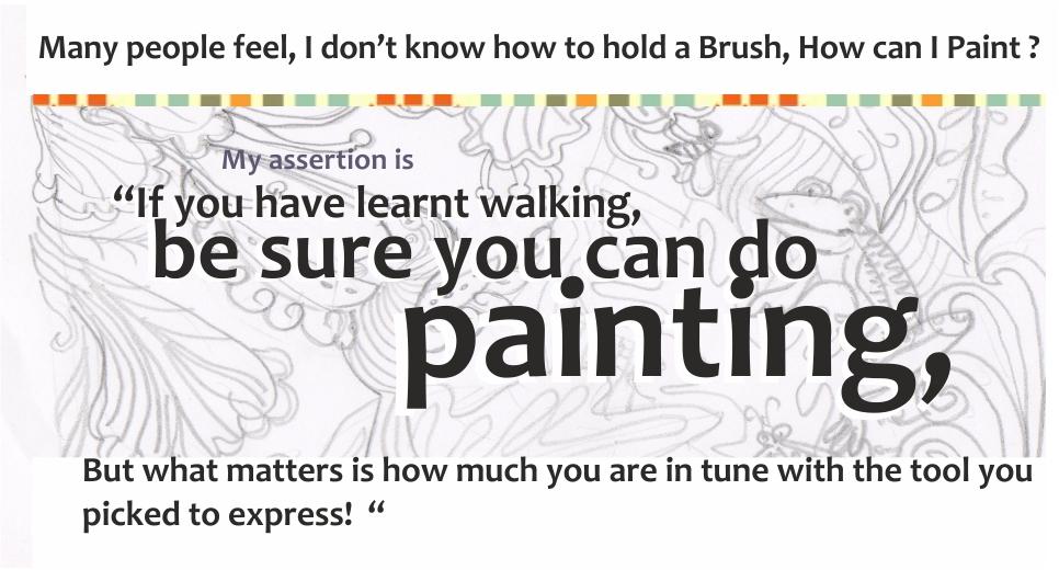 Anyone can draw and paint at kenfortes fine arts painting & crafts classes jp nagar bangalore goa