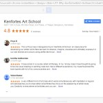 Google reviews about Kenfortes by Art students and parents