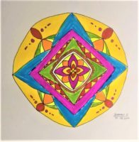 MANDALA ART DRAWING BY JHANAVI