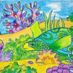 kenfortes-Arts-classes-online-UNDER-WATER-SCENE-WITH-TURTLE-AND-CORALS-Siri