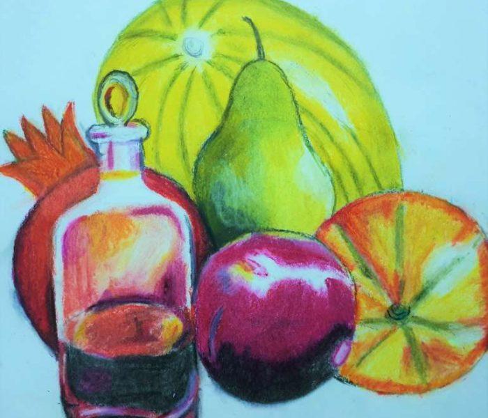 kenfortes-Arts-classes-online-still-life-oil-pastels-Siri