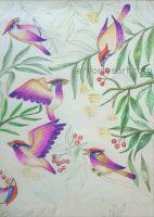 Chirping Birds kids drawing art class - Online arts lessons
