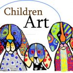 3 Funny dogs in crayons - Kenfortes children online art class - level 1 Home works