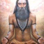 Meditating yogi - oil painting by suresh