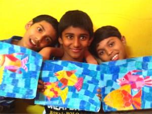 Student images, Kenfortes art class Bangalore