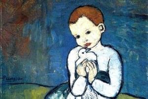 child with a dove pablo picasso - kenfortes art bangalore