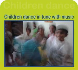 children fun dance at kenfortes art class