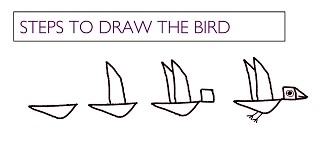 flying birds in magic rainbow clouds - 3 Frame comic strip making - kenfortes art class children drawing lessons level 1