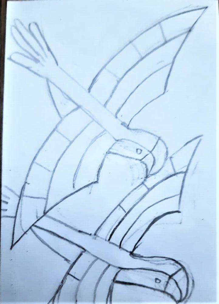 children art - macaw - kenfortes