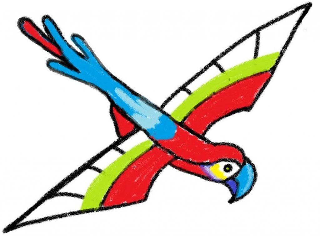 Learn Drawing & coloring - scarlet macaws in digital Art - kenfortes art academy