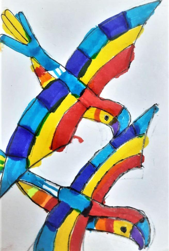 vikrant s macaw - kenfortes kids art
